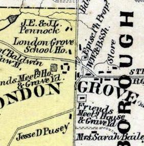 London Grove meeting map